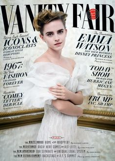 Emma Watson on the cover of Vanity Fair's March issue in Oscar de la Renta #Spring2017. Styled by Jessica Diehl Photographed by Tim Walker
