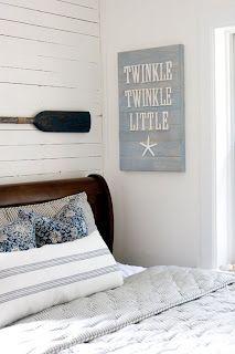 40 Awesome Beach Coastal Style Bedroom Decor Ideas - Page 8 of 40 Coastal Style, Coastal Living, Coastal Decor, Home Beach, Beach House Decor, Home Decor, Beach Bed, Bedroom Decor, Wall Decor
