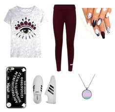 """""""Untitled #2"""" by michaelahc on Polyvore featuring Kenzo, Casetify and adidas"""