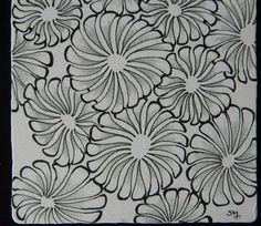 Zentangle Pattern Gallery | February Zentangle Basics Workshop | Sandhya Manne