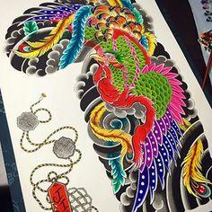Phoenix #seoulink #seoul #seoulinktattoo #tattoo #tattooed #tats #tatted #tattoos #tatts #art #artwork #paint #watercolor #ink #inked #tattooapprentice #tattooart #japan #japanese #tatuaje #japaneseflash #tattooflash #irezmi #colorful #phoenix #traditional #서울잉크 #타투 #이레즈미 #봉황