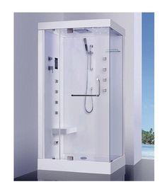 Cabine de Douche AZENHA angle gauche 120*80*225 cm avec hammam - MP-3331_gauche_avec hammamAHD - Plomberie sanitaire chauffage