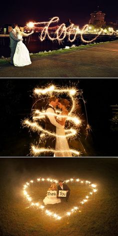 Painting with light. I love the middle idea but it seems difficult. The bottom one seems straight forward