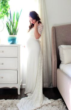 I love this gorgeous maternity gown. Perfect for a maternity photoshoot and session. Click this pin to find it on Etsy.   Maternity Gown bohemian maternity dress photo shoot lace wrap with train, maternity dress, maternity gown, maternity outfit, maternity clothes, maternity wardrobe, maternity style, pregnancy, bump, belly, #ad