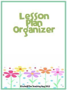 "The Best of Teachers Pay Teachers: FREE MISC. LESSON - ""Lesson Plan Organizer"""