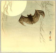 Ohara Koson: Flying Bat - Ca. 1900-1920s