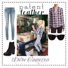 """Get The Look: Dove Cameron"" by paulacibele16 ❤ liked on Polyvore featuring Yves Saint Laurent, Steve Madden, Paige Denim and Tiffany & Co."