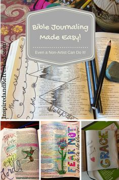 Bible art journaling is doable. Even if you're not an artist!