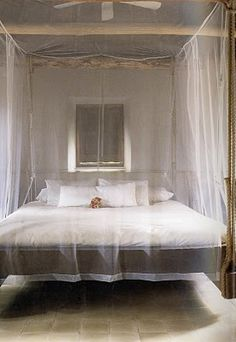think you could build this frame...a mosquito net which gives you space to breathe...