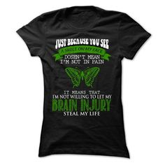 Smile - Brain Injury - #polo shirt #mens t shirts. MORE ITEMS => https://www.sunfrog.com/LifeStyle/Smile--Brain-Injury-Ladies.html?60505