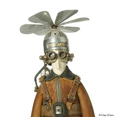 The Whimsical Steampunk Sculptures of Stephane Halleux