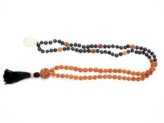 Rudraksha Black Agate Meditation Mala Protection Energy Mala Shani Mala
