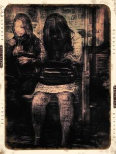 The Bus Ride (from the Passengers series); Copyright Diana Nicholette Jeon 2012; Digital Imaging