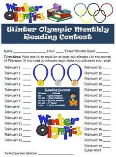 Winter Olympics Reading Activity for Students of All Ages! $