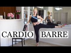 Tone arms, legs, booty and abs with this total body full length Cardio BARRE Workout! Cardio bursts added in to increase calorie burn and torch fat. Ballet Barre Workout, Barre Workout Video, Cardio Barre, 20 Minute Workout, Workout Videos, Barre Exercises At Home, Toning Workouts, At Home Workouts, Low Impact Workout