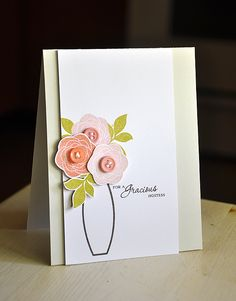 Love this pretty CAS card by the very talented Maile Belles -Simply Stamped