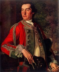British; Colonel Edward Cornwallis of the 24th Regt. of Foot by Sir George Chalmers, 1755.