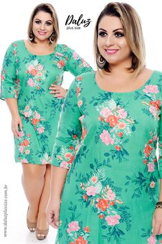 Vestido Plus Size Ellora   - Coleção Primavera Verão Plus Size - daluzplussize.com.br