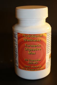 Nutritional Wellness Turmeric Digestive MAX 60 Capsules $15