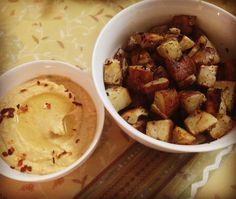 Roasted Sweet Potato and Hummus