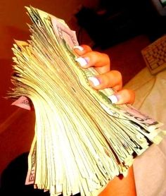 I want to attract money that I feel good about. That I earned myself, or won, I want lots of it.