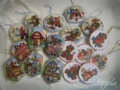Christmas ornaments cross-stitch