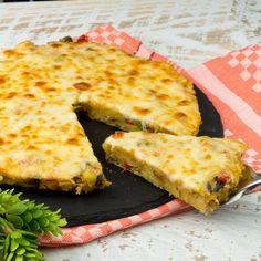 Cooking Recipes, Healthy Recipes, Healthy Food, Pizza, Mozzarella, Food Videos, Quiche, Food And Drink, Breakfast
