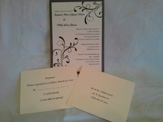 Stampin'Up! Wedding invites