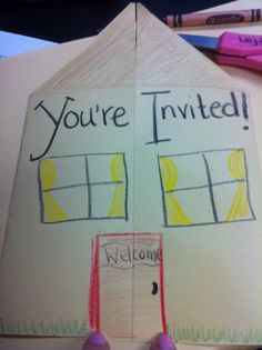 Super cute way to motivate parents to come to Open House! Just glue a flyer with info inside!