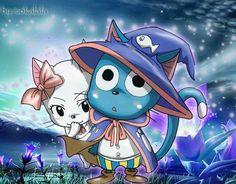 Happy and Carla from Fairy Tail! Nalu, Gruvia, Fairy Tail Happy, Fairy Tail Ships, Carla Fairy Tail, Fariy Tale, Manga, Fairy Tail Couples, Halloween Drawings