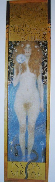 leitmotiv: mirror KLIMT Gustav, Nuda Veritas, 1899, Viena, Theatersammlung