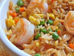 Cantonese rice with thermomix recipe easy and simple - Recipes Easy & Healthy Rice Recipes, Asian Recipes, Cooking Recipes, Healthy Recipes, Cream Recipes, I Love Food, Good Food, Yummy Food, Shrimp Fried Rice