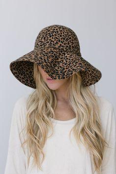 Leopard Felt Cloche Hat Women's Winter Sun Hat by ThreeBirdNest, $128.00