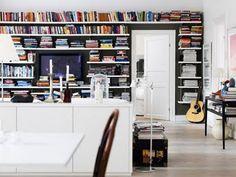 Huge book shelves!