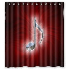 """Durable Note Theme 100% Polyester Waterproof Shower Curtain, Shower Rings Included 66"""" x 72"""" Music Shower Curtain http://www.amazon.com/dp/B00O5YRU7I/ref=cm_sw_r_pi_dp_.e66vb1EEEE4R"""