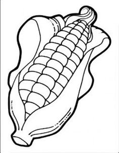 Use the pattern to make a festive door decoration, experiment with popcorn, and includes a take-home activity about environmental print about corn in a supermarket. Vegetable Coloring Pages, Fruit Coloring Pages, Farm Animal Coloring Pages, Colouring Pages, Coloring Pages For Kids, Coloring Books, Art Drawings For Kids, Drawing For Kids, Easy Drawings