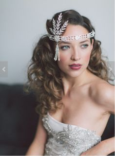 The Great Gatsby Headband, Flapper headband, roaring 20's wedding hairpiece, Great gatsby hair accessories, Gatsby headpiece, Prom Jewelry