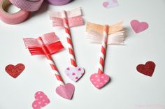 Valentine's Day Craft: Paper straw Cupid's arrows