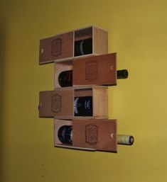 Cuban Cigar Box Wine Rack - Recycled and Repurposed Home Décor