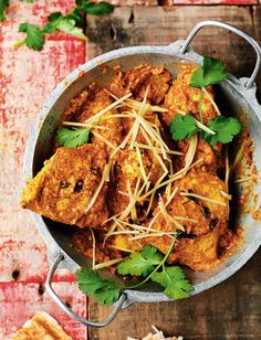 Butter Chicken from Rick Stein's India. An indulgent curry recipe with coconut, cashew nuts and double cream. http://thehappyfoodie.co.uk/recipes/butter-chicken