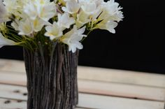 Love the twig vase-- Four Creative Ways to Repurpose Tin Cans on http://simplehomemade.net