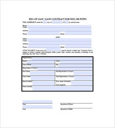 Dog Bill Of Sale  Bill Of Sale Template Word To Use And How To