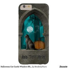 Halloween Cat Castle Window iPhone Case Barely There iPhone 6 Plus Case