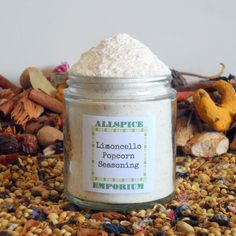 Limoncello Gourmet Popcorn Seasoning Mix Homemade Gourmet Cooking Spice Herb Gift by ALLSPICEEMPORIUM on Etsy