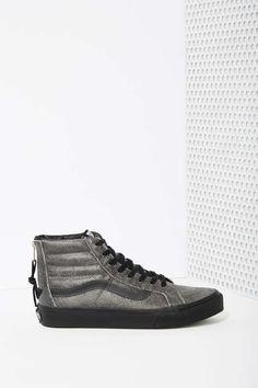 Vans Sk8-Hi Sneaker - Black Crackle Suede - Sneakers
