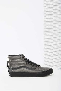 Vans Sk8-Hi Sneaker - Black Crackle Suede - Sneakers