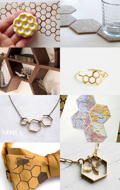 Hexagons, Honeycombs and Bees!!! Bzzzz by She Wears The Rocks on Etsy--  https://www.etsy.com/treasury/NDU3NDM4OTh8MjcyNzA0NDg0NA/hexagons-honeycombs-and-bees-bzzzz