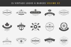15 Retro Vintage Logotypes, Badges by Vasya Kobelev on @creativemarket