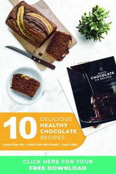 Download decadence right to your inbox. 10 healthy chocolate recipes that are good for you, good for the planet, guilt-free. #chocolaterecipes #dessertrecipes #healthydesserts #healthyrecipes #cleaneating Healthy Chocolate, How To Make Chocolate, Chocolate Recipes, Smart Snacks, Snack Recipes, Dessert Recipes, Guilt Free, Healthy Desserts, Cravings