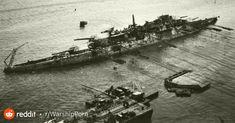 USS Oklahoma undergoes the righting operation, April 1943 : WarshipPorn Uss Oklahoma, Oklahoma Memorial, Remember Pearl Harbor, Uss Arizona, Colorized Photos, Us History, History Facts, United States Navy